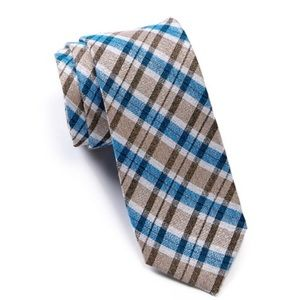 Ben Sherman Liverpool Plaid Tie (Taupe)